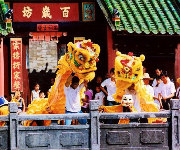 folk dancing lion